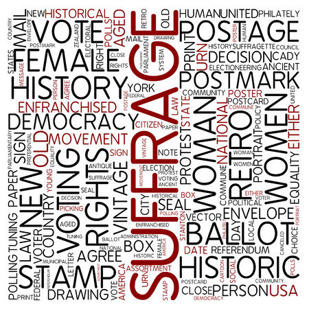 voting paper: Word cloud - suffrage