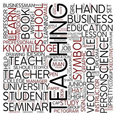 computer education: Word cloud - teaching Stock Photo