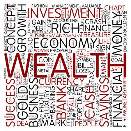 wealth management: Word cloud - wealth