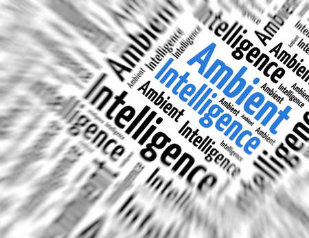 appealing: Tagcloud - Ambient intelligence Stock Photo