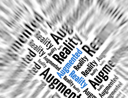 tagcloud: Tagcloud - Augmented reality Stock Photo