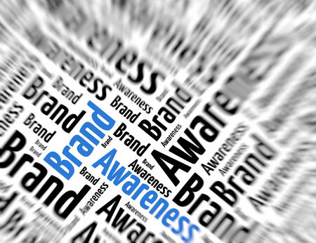 awareness: Tagcloud - Brand awareness Stock Photo