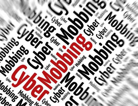mobbing: Tagcloud - Cyber mobbing