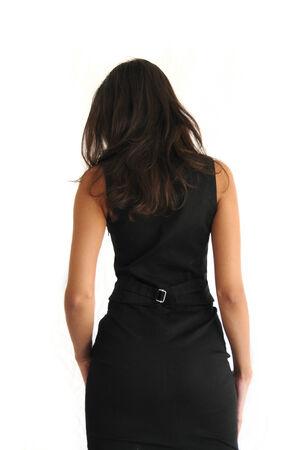 woman back view: Rear view of woman