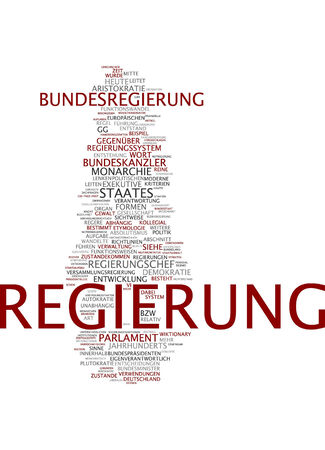 aristocracy: Word cloud of government in German language Stock Photo