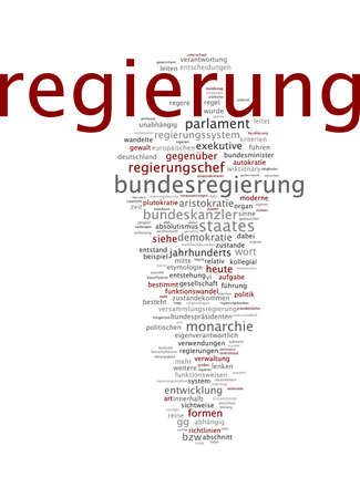 assembly language: Word cloud of government in German language Stock Photo