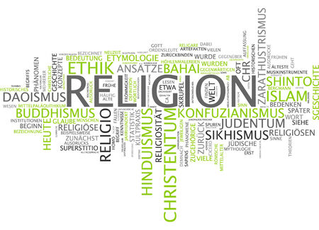 religion: Word cloud of religion in German language