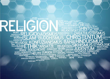 sikhism: Word cloud of religion in German language