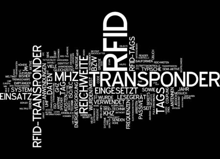 rfid: Word cloud of RFID in German language