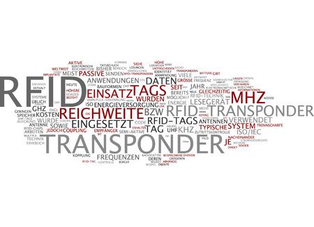 Word cloud of RFID in German language