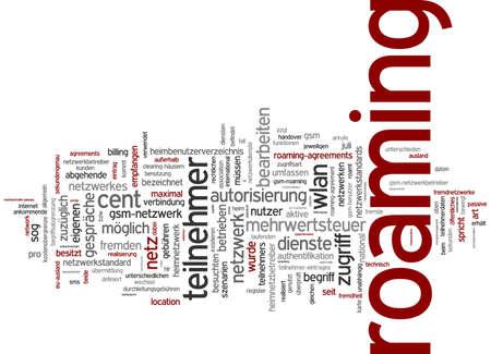 dues: Word cloud of roaming in German language