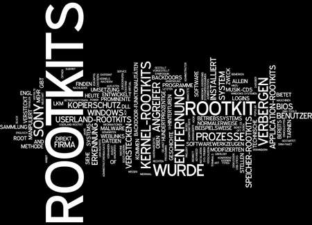 attacker: Word cloud of rootkit in German language