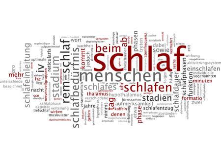 optimal: Word cloud of sleep in German language