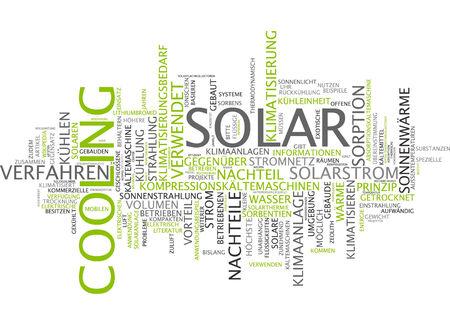 radiacion solar: Nube de palabras de refrigeraci�n solar en lengua alemana