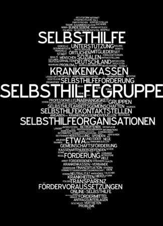 communal: Word cloud of support group in German language Stock Photo