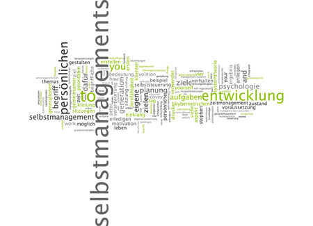 cybernetic: Word cloud of self management in German language