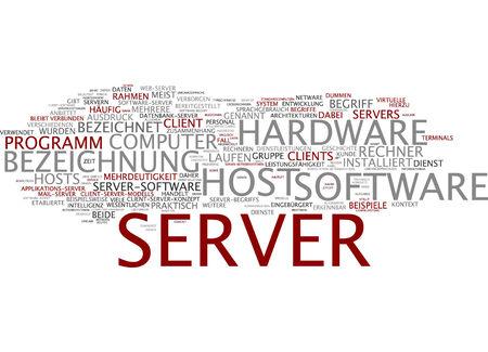 ambiguity: Word cloud of server in German language