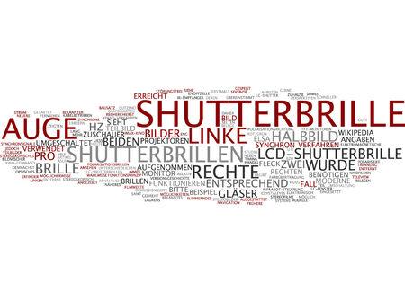 synchronous: Word cloud of eyewear in German language