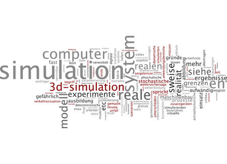 stochastic: Word cloud of simulation in German language