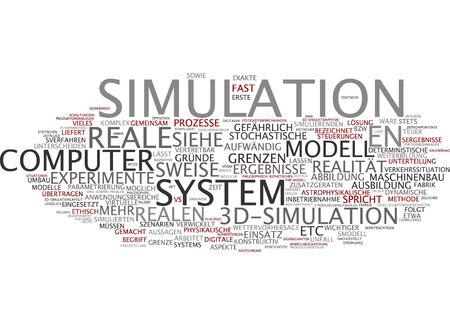 Word cloud of simulation in German language