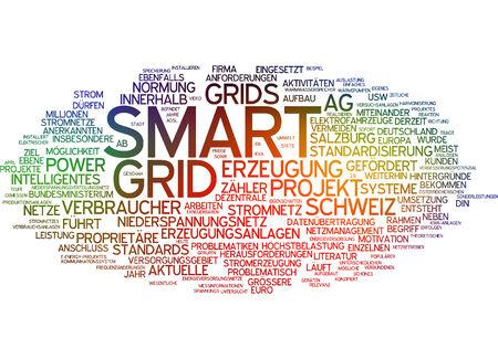boycott: Word cloud of smart grid in German language