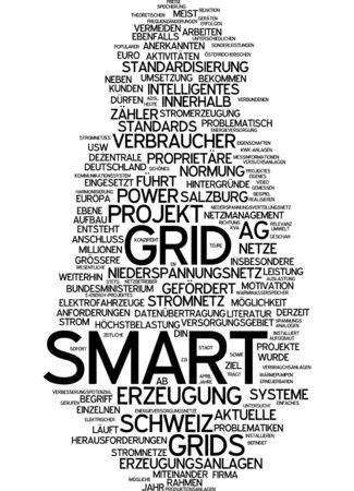 optimizer: Word cloud of smart grid in German language