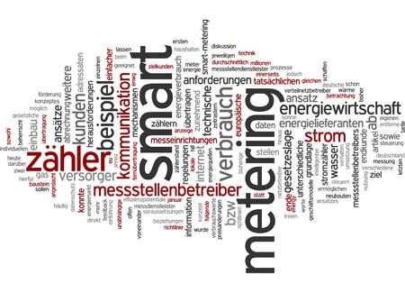 metering: Word cloud of smart metering in German language
