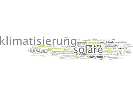 thermodynamic: Word cloud of air-conditioning in German language Stock Photo