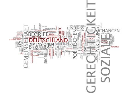 Word cloud of social justice in German language Stock fotó