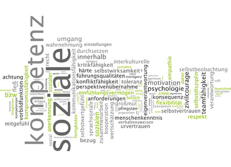 acknowledgement: Word cloud of social competence in German language