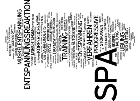 bodily: Word cloud of spa in German language