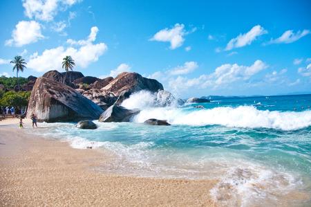 The Baths landmark at Virgin Gorda (Tortola) - Caribbean