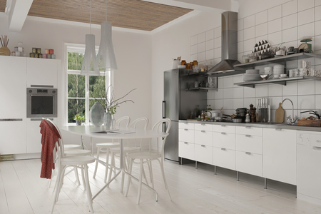 Fantastisch Küchen Mit Weißen Geräten Und Holzschränke ...