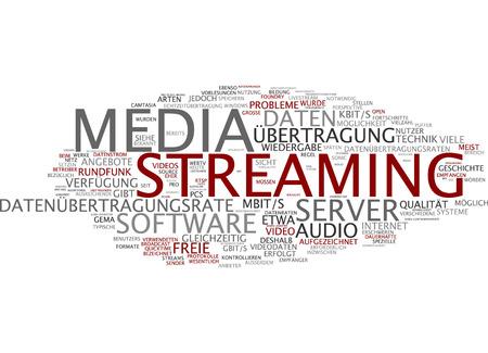 playback: Word cloud of media streaming in German language