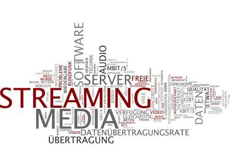 data transmission: Word cloud of media streaming in German language