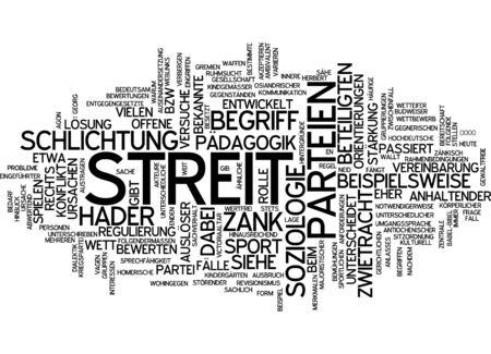 discord: Word cloud of dispute in German language Stock Photo