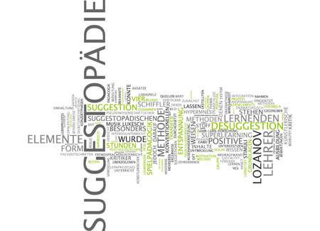 additional training: Word cloud of suggestopedia in German language