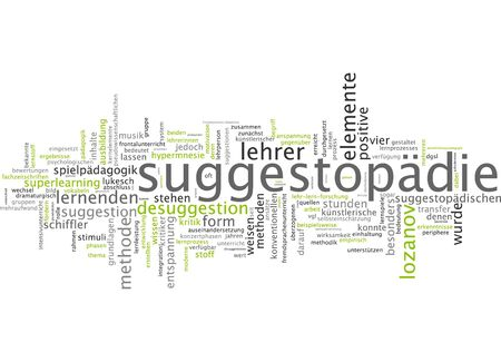 additional training: Word cloud of suggestopedia in German language