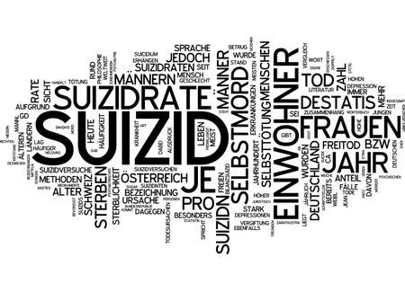 additional training: Word cloud of suicide in German language Stock Photo