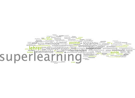 conventional: Word cloud of super learning in German language