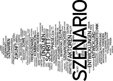 scenario: Word cloud of scenario in German language
