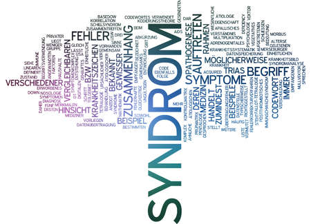 pathogenesis: Word cloud of syndrome in German language