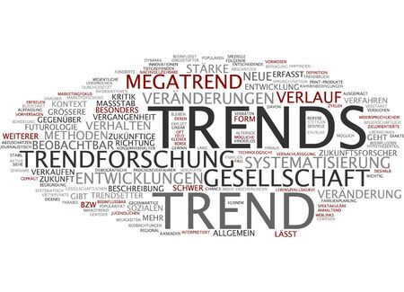 trend: Word cloud of trend in German language
