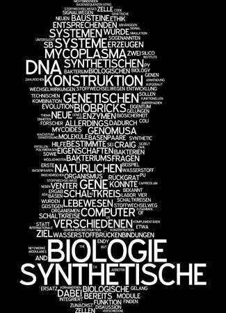 synthetic: Word cloud of synthetic biology in German language