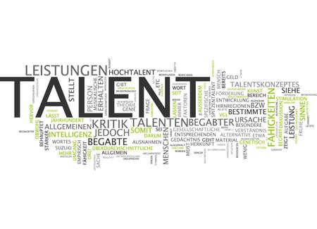 Word cloud of talent in German language