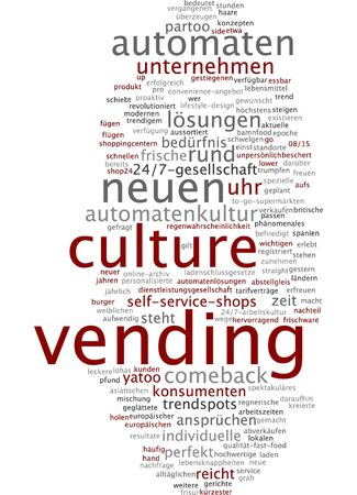 german culture: Word cloud of vending culture in German language