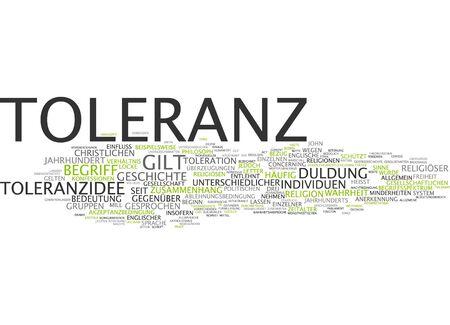 tolerancia: Nube de palabras de la tolerancia en lengua alemana