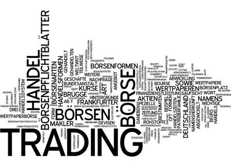 traded: Word cloud of trading in German language Stock Photo