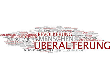 aging: Word cloud of aging in German language