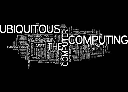Word cloud of ubiquitous computing in German language